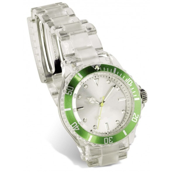 Reloj pulsera deportivo transparente / Relojes Publicitarios Personalizados