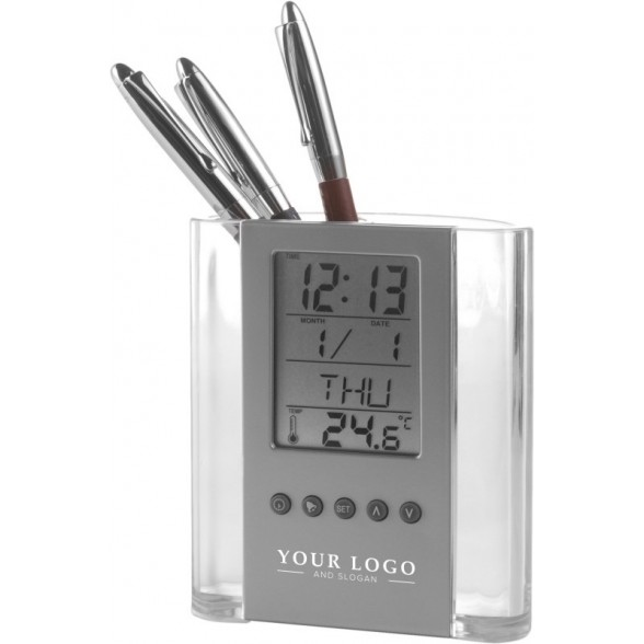 Cubilete con reloj  y termómetro / Cubiletes Sobremesa Personalizados