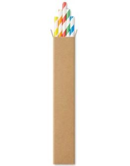 Set 10 pajitas de papel para promociones / Set pajitas personalizadas