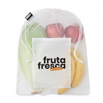Bolsas Rejilla para comida RPET 30x40  / Bolsas Compra Reutilizables