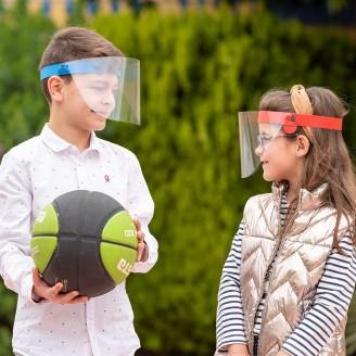 Pantalla facial para niños abatible