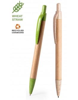 Bolígrafo Cartón Reciclado y Caña de Trigo / Boligrafos Ecologicos