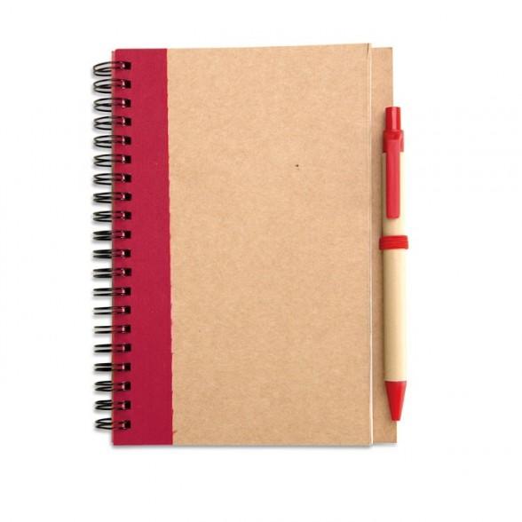 Juego cuaderno espiral y bolígrafo / Cuadernos Personalizados