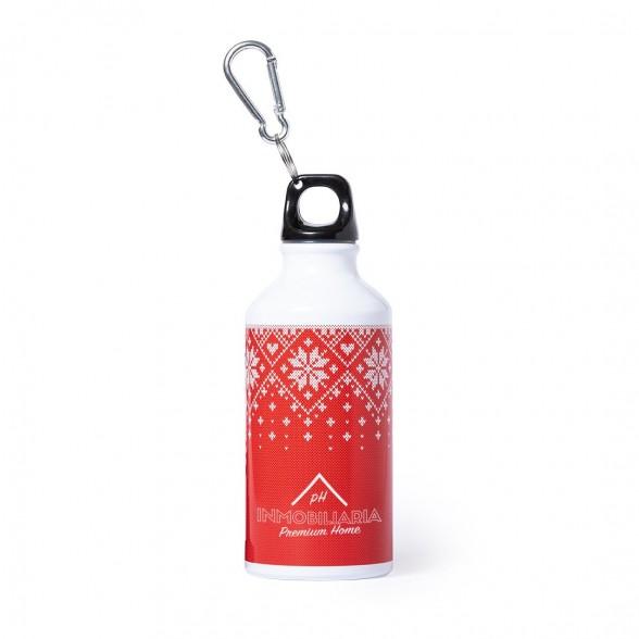 Bidones Agua 400 ml con decoración navideña personalizadas con tu logo