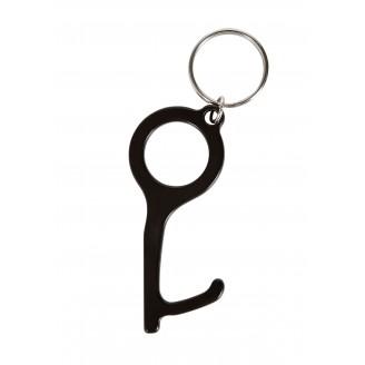 Llaveros anti contacto Peer de metal personalizados con tu logo