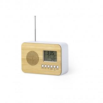 Radio Reloj Personalizadas de Bambú