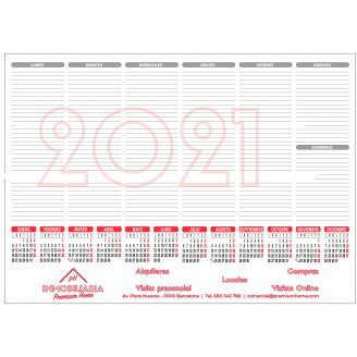 Planning sobremesa con impresión a 4 colores / Calendarios sobremesa
