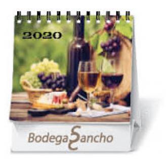 Calendarios sobremesa personalizados baratos 11x13,5 cm 7 hojas