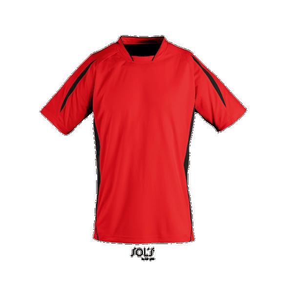 Camiseta publicitaria poliéster bicolor hombre Match