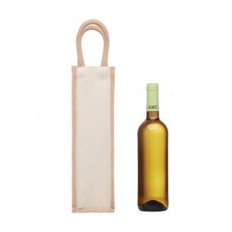 Bolsas para botellas de vino de yute personalizadas