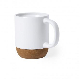Tazas desayuno cerámica con base corcho personalizadas
