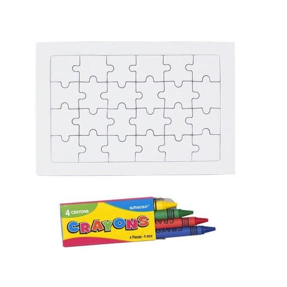 Puzzle Zeta. 24 Piezas. Estuche 4 Ceras Incluido