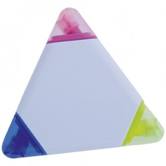 Marcador fluorescente triangular Trico. Con tres colores