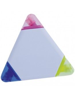 Marcador triangular Trico. Con tres colores