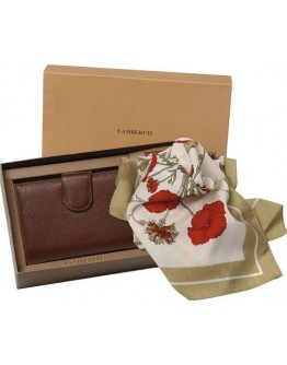 Set pañuelo 90x90cm y billetero señora - LAMBERTTI -