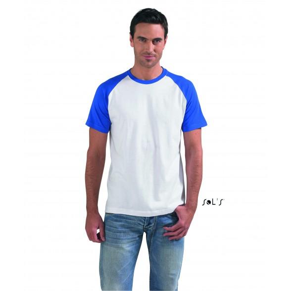 Camiseta hombre bicolor manga raglán FUNKY de Sol's