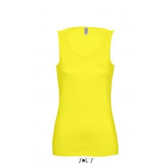 Camiseta publicitaria de algodón personalizada mujer sin mangas JANE