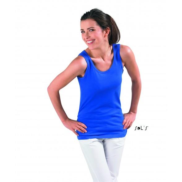 Camiseta publicitaria mujer sin mangas JANE