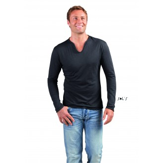 Camiseta algodón hombre manga larga SLUB MARAIS