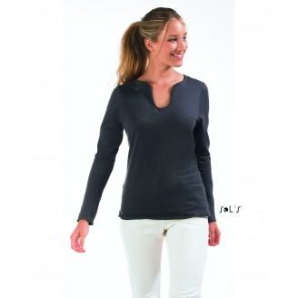Camiseta algodón mujer manga larga SLUB MARAIS