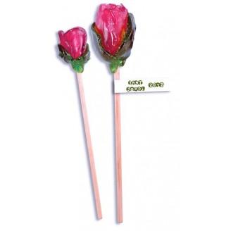 Rosas de caramelo cristal 100g. Impresión en la etiqueta incluida