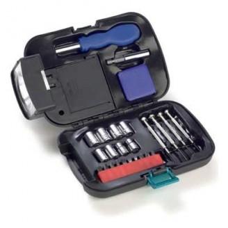 Conjunto de herramientas con linterna