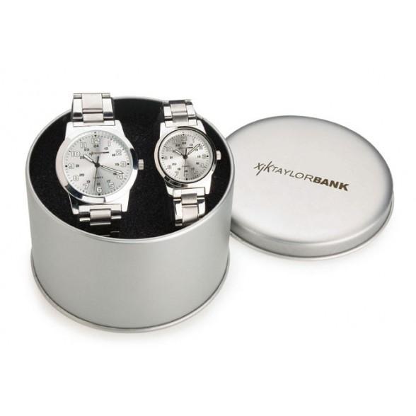Set de relojes de señora y caballero