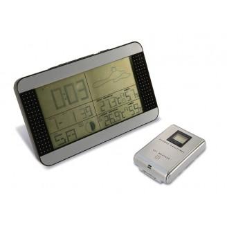 Estación meteorológica con pantalla LCD y sensor exterior inalámbrico