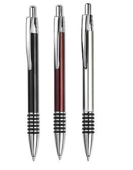 Bolígrafo de aluminio con 6 aros caucho
