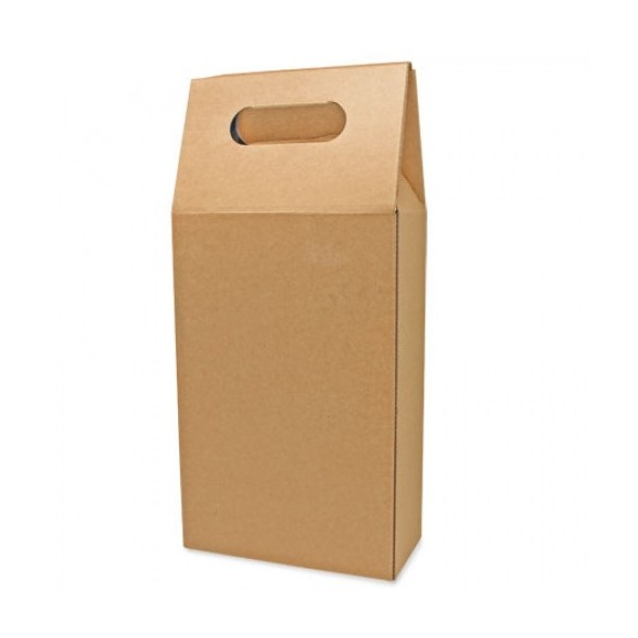Caja cartón automontable 2 botellas
