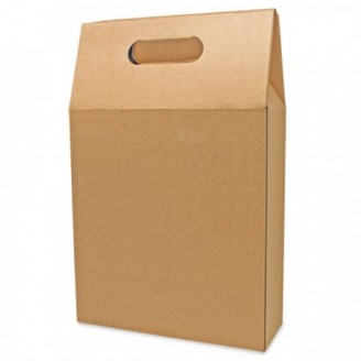 Caja cartón automontable 3 botellas