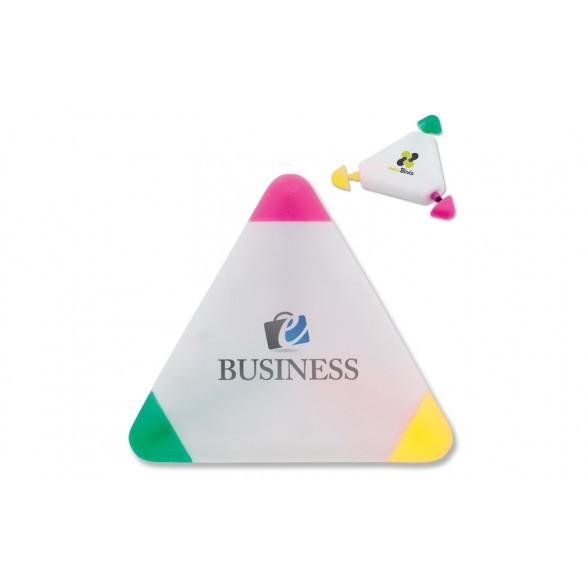 Marcador triangular con 3 colores de impresión
