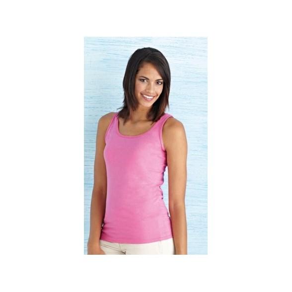 Camiseta Tank Top Estilo Suave Mujer