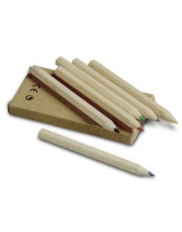 Caja 6 lápices cortos de colores
