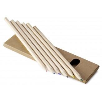 Caja 6 lápices largos de colores