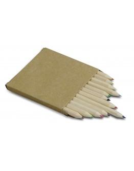 Caja 12 lápices cortos de colores