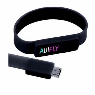 Memoria USB 2.0 pulsera silicona para publicidad / USB Personalizadas