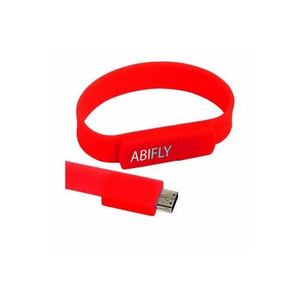 Memoria USB 2.0 pulsera silicona