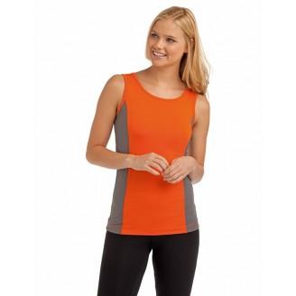 Camiseta Tank Top Contraste Tagless® Mujer