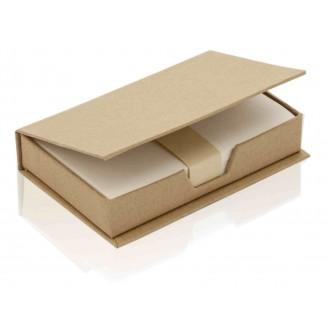 Portanotas publicitario de cartón reciclado