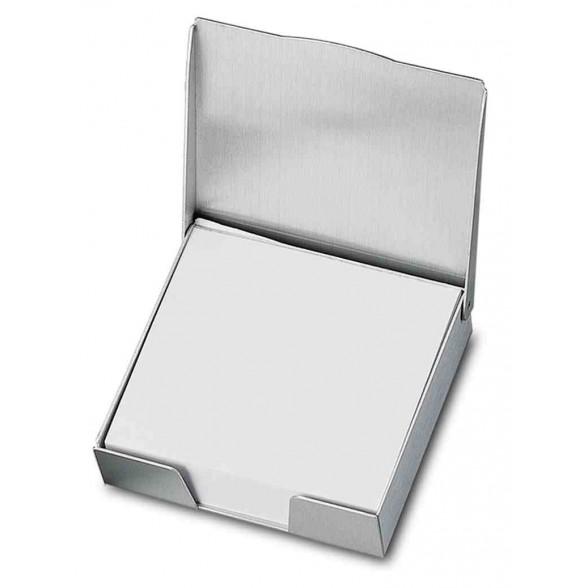 Portanotas publicitario aluminio con taco de papel 200 hojas