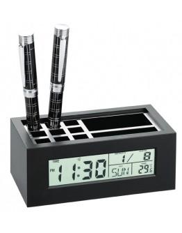 Cubilete con reloj calendario y termómetro