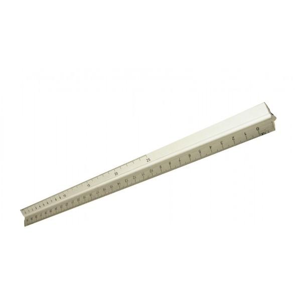Escalímetro metálico de 30 cm con 6 escalas