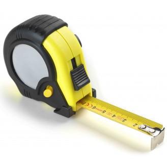 Flexómetro 3 metros negro-amarillo. Con clip