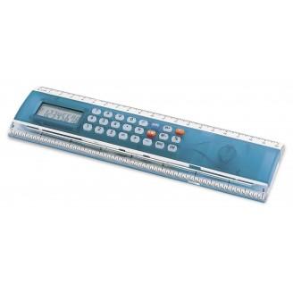 Regla calculadora con centímetros y pulgadas