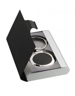 Juego llavero y tarjetero publicitario de aluminio