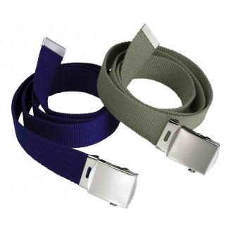 Cinturón con hebilla metálica