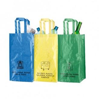 Pack 3 Bolsas Reciclaje con Asas