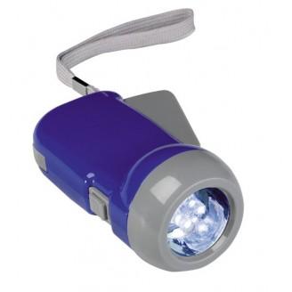 Linterna dinamo con 3 LEDS