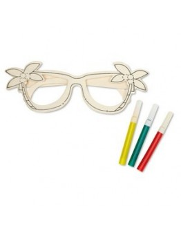 Gafas de sol de madera con rotuladores